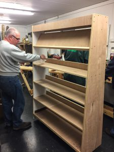 One of the Community Centre shelves in progress