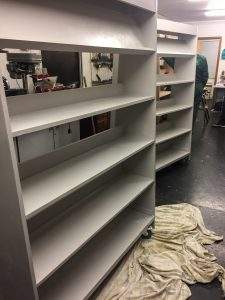 Community Centre shelves nearing completion