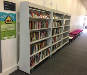 completed community shelves in situ