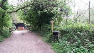 The Shed helps navigation from Bartons Mill to Basing House