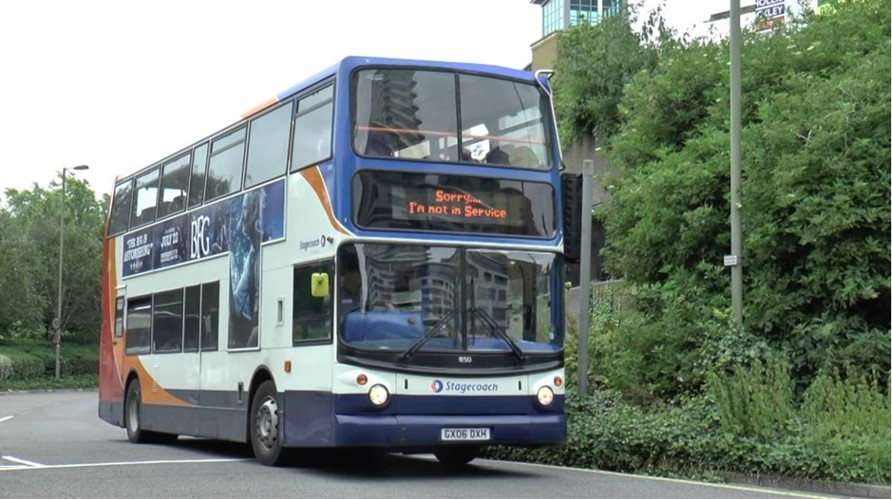 Picture of a double decker bus in Basingstoke